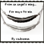 From an angel's wing