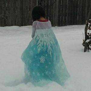 elsa in the snow