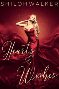 Hearts and Wishes 2019 Cover Woman in a flowing red dress contemporary fantasy romance
