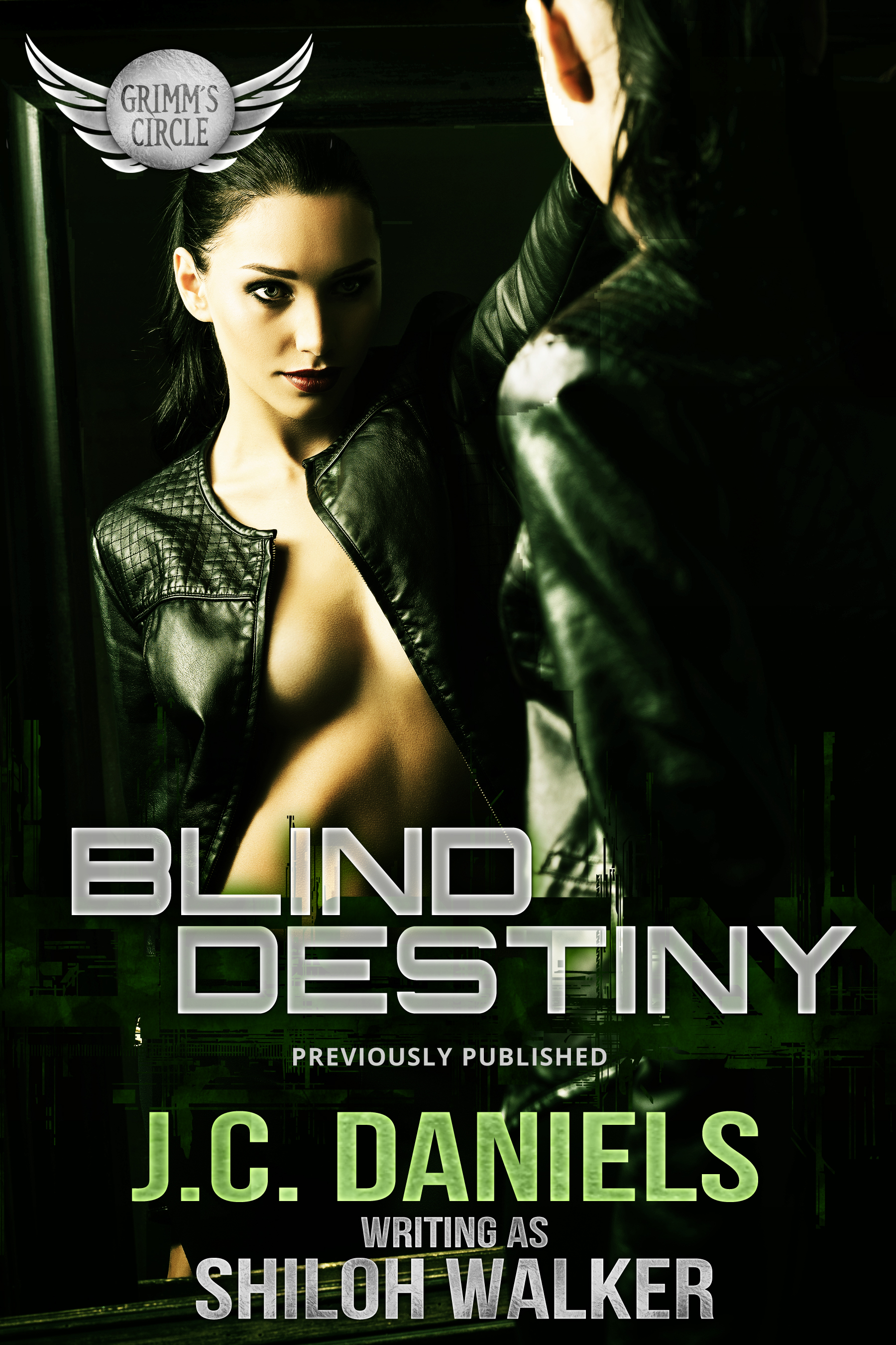 Blind Destiny Cover 2019 Woman staring at her reflection in a mirror