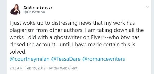 cris serruya defends her plagiarism