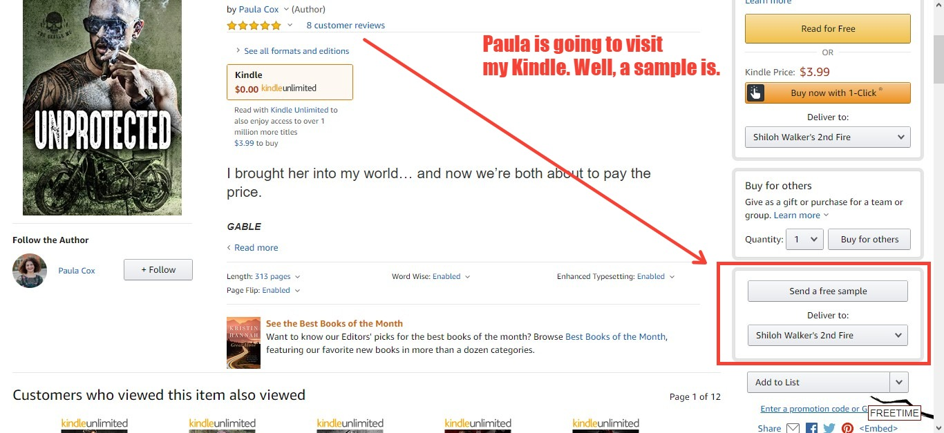 I had a sample of Paula Cox's work sent to my kindle