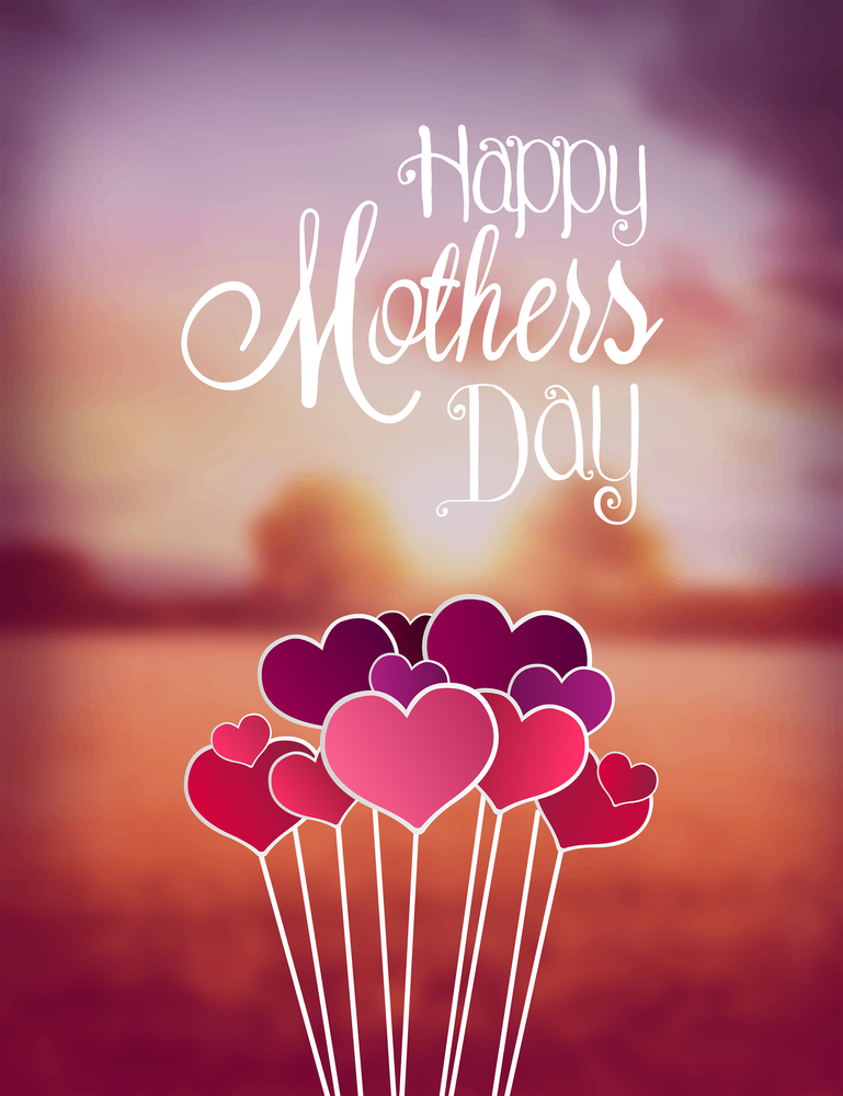 Happy Mother's Day image, with hearts