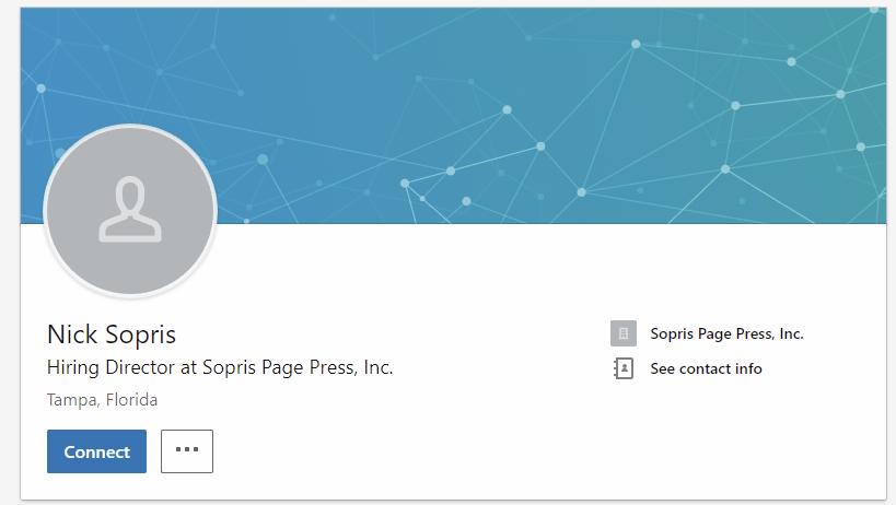 Nick Sopris, Sopris Press, Linked In Page, Screenshot