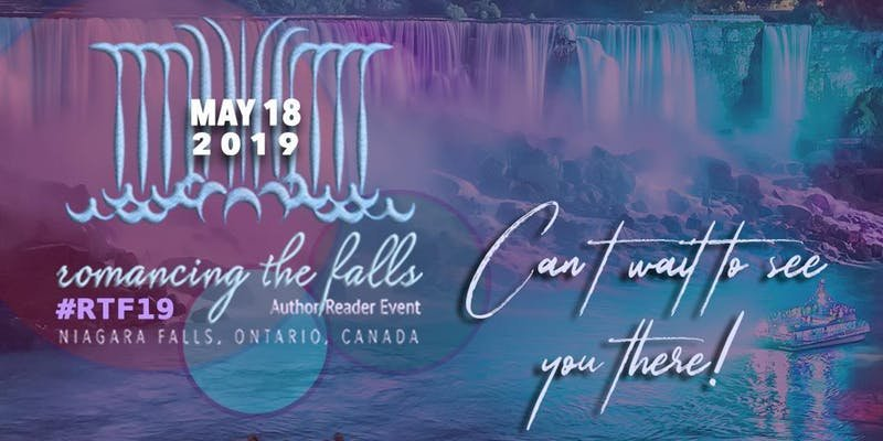 Event image for Romancing the Falls, stylized waterfall design