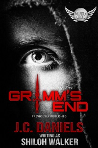 Grimm's End - 2020 Reissue, image of a man's face, close up with focys on the eye.